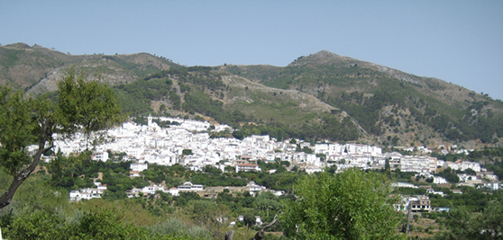 Panoramic photo of Casarabonela